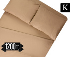 1200TC King Sheet Set - Taupe 1
