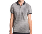 Globe Men's Moonshine Polo - Black Mini Stripe 1
