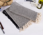 Cotton Picnic Throw 152 x 127cm - Black Zig Zag 1