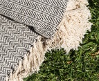 Cotton Picnic Throw 152 x 127cm - Black Zig Zag 3
