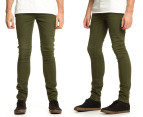 Men's Wrangler Strangler Super Slim Fit Jeans - Army Green 1