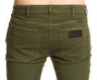 Men's Wrangler Strangler Super Slim Fit Jeans - Army Green 3