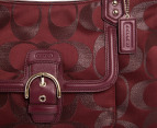 Coach Campbell Signature Metallic Belle Carryall - Bordeaux 3