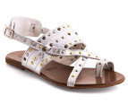 Mollini Luccio Sandals - Distressed Silver 4