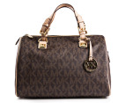 Michael Kors Grayson Large Satchel - Brown 4