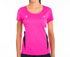 New Balance Women's Tech Tee - Pink Glow 1
