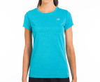 New Balance Women's Heather Tech Tee - Capri Breeze 1