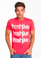 Freshjive Men's Cracked Tee - Vintage Red 4
