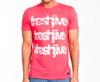 Freshjive Men's Cracked Tee - Vintage Red 1