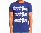 Freshjive Men's Cracked Tee - Denim 1