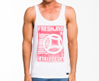 Freshjive Men's Cali Tank - Off White 1
