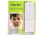 Bubba Blue Cot Sheet Set 3-Piece - White  1