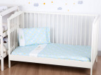 Bubba Blue Jungle Jungle Cot Sheet Set - Blue 4