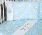 Bubba Blue Jungle Jungle Cot Sheet Set - Blue 2