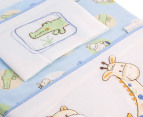 Bubba Blue Jungle Jungle Cot Sheet Set - Blue 5