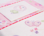 Bubba Blue Butterfly Garden Cot Sheet Set - Pink 5