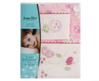 Bubba Blue Butterfly Garden Cot Sheet Set - Pink 1