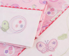 Bubba Blue Butterfly Garden Cot Sheet Set - Pink 3