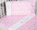 Bubba Blue Butterfly Garden Cot Sheet Set - Pink 2