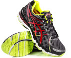 ASICS Men's Gel Kayano 19 - Black/Red/Lime - US 7.5 3