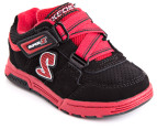Skechers Kids' Endorse Encounter Shoes - Black/Red 4