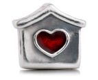 Pandora Doghouse Charm - Silver/Red 2