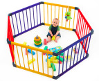 Jolly KidZ Smart Hexagon Playpen - Blue/Orange/Yellow 2