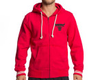 Mitchell & Ness Chicago Bulls Zipper Hoodie - Red 1