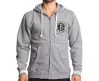 Mitchell & Ness Brooklyn Nets Zipper Hoodie - Grey 1
