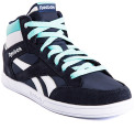 Reebok Women's Royal Court Mid - Navy/White/Emerald  4