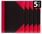Spirax A4 Black & Red Basics Notebook 5-Pack 1