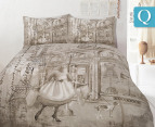 Retro Queen Quilt Cover Set - Parisienne 1
