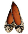 Walnut Rosie Classic Pony Ballet Flats- Brown Leopard - EU Women 41 2