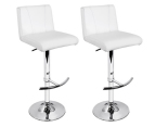 Polyurethane Leather Look 105cm Chic Bar Stool 2-Pack - White 1