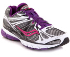 Saucony Women's Guide 6 - White/Black/Purple 4