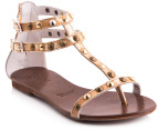 Mollini Women's Lycira Sandals - Distressed Gold - EU Women 37 4
