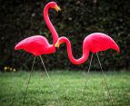 Pink Flamingo Garden Ornaments 2-Pack 5
