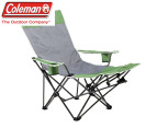 Coleman Chair Quad Lounger - Green & Grey 1