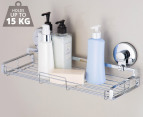 Everloc Chrome Plated Steel Large Bathroom Shelf - Chrome 1