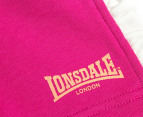 Lonsdale Baby Cheyne Shorts - Hot Rose 3