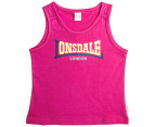 Lonsdale Toddlers' Purles Singlet - Hot Rose 4
