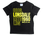 Lonsdale Boys' Conquest Tee - Black 1