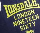 Lonsdale Boys' Dalingridge Singlet - Navy 3