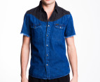 Wrangler Men's Dandy Shirt - Denim 1