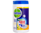 2 x Dettol Anti-bacterial Scrub 'n' Wipe Wipes 75pk 2