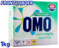 Omo Small & Mighty Alpine Fresh Laundry Powder Front Loader 1kg