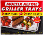 Multix Alfoil Griller Trays 4pc 3
