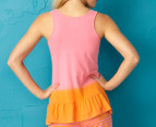 Jethro & Jackson Women's Stripe Tank - Bubble Gum/Orange 3
