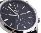 Fossil Men's Townsman Chronograph Leather Watch - Black 2