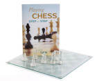 Glass Chess Set & Book 1